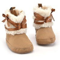 Baby Snow Boots Children Kids Soft Cotton Boots Newborn Baby Girls Winter Warm Snow Boots Infant Solid Bowknot Shoes