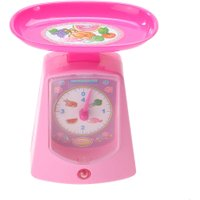 Mini Electronic Scale Balance Kids Pretend Play Toy Pink Plastic Simulation Balance Chilren Play House Indoor Game Toy